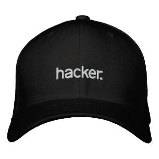 Pirata informático del gorra negro gorro bordado
