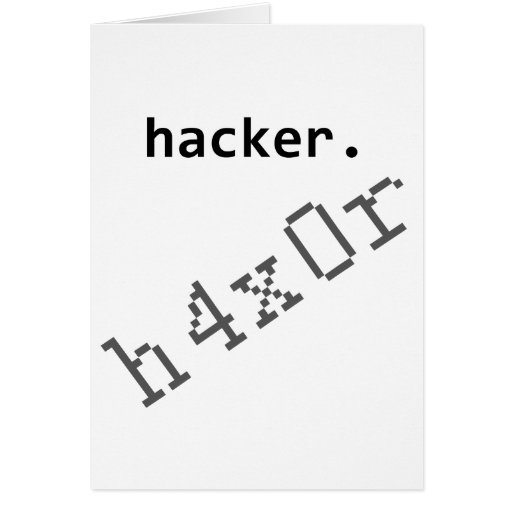Pirata informático h4x0r tarjeta