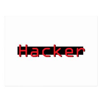 Pirata informático rojo y negro tarjetas postales