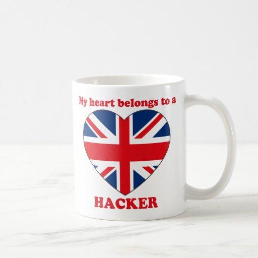 Pirata informático taza de café