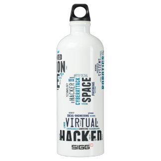 Pirata informático tóxico del Cyberpunk Botella De Agua
