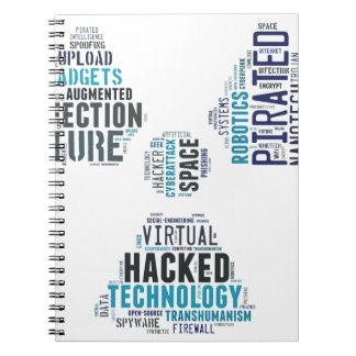 Pirata informático tóxico del Cyberpunk Libro De Apuntes Con Espiral