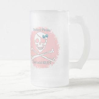 Pirata inmediato rosado taza de cristal