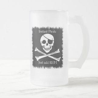 Pirata inmediato taza de cristal