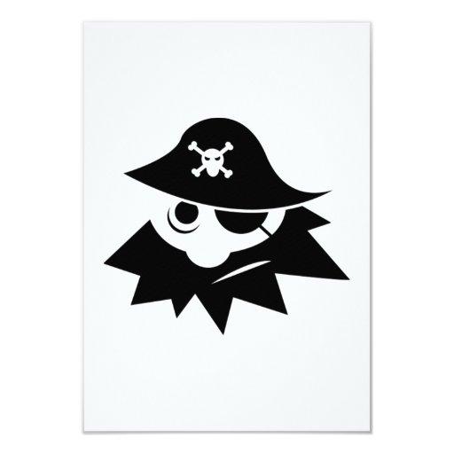 Pirata Invitación 8,9 X 12,7 Cm