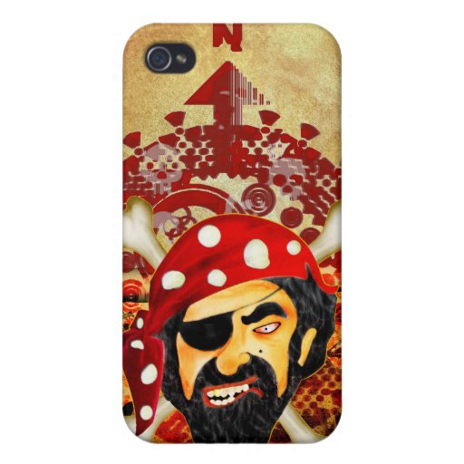 Pirata iPhone 4/4S Fundas