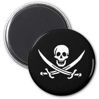 pirata-Jack-rackham Imán Redondo 5 Cm