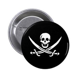 pirata-Jack-rackham Pin Redondo De 2 Pulgadas