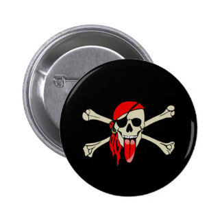 Pirata Laurent Drapeau con la lengua extralarga Pin Redondo 5 Cm