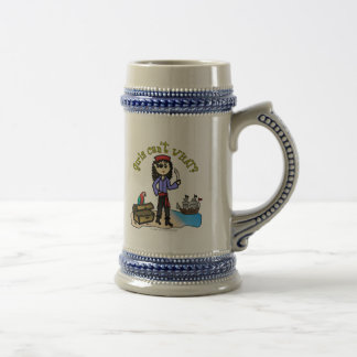 Pirata ligero de la mujer jarra de cerveza