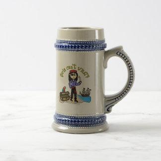 Pirata ligero de la mujer tazas de café