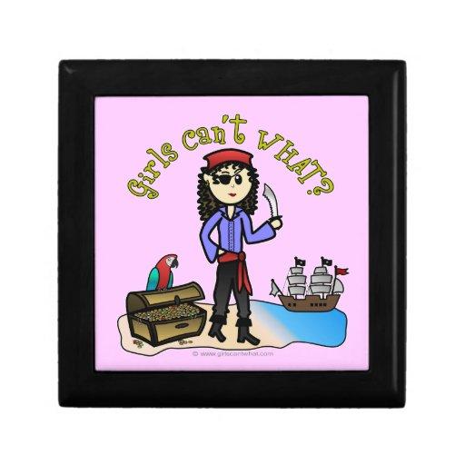 Pirata ligero del chica caja de regalo