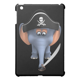 Pirata lindo del elefante 3d editable