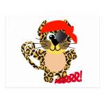 Pirata lindo del leopardo de Goofkins Tarjetas Postales