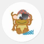 Pirata lindo del mono de Goofkins Etiquetas