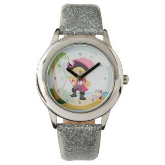 Pirata lindo reloj de mano
