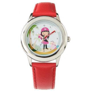 Pirata lindo relojes de pulsera