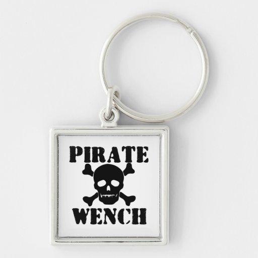 Pirata Llavero Cuadrado Plateado