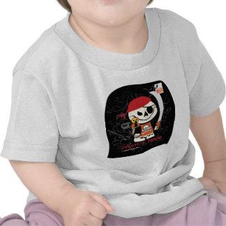 Pirata muerto de Ed-Ninja v para los niños Camiseta