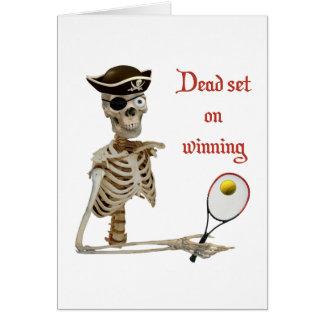Pirata muerto del tenis del sistema tarjetas
