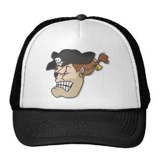 Pirata muy enojado gorros