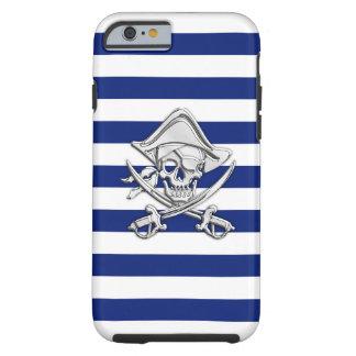 Pirata náutico del cromo en la impresión de las funda para iPhone 6 tough