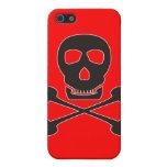 Pirata negro iPhone 5 protectores