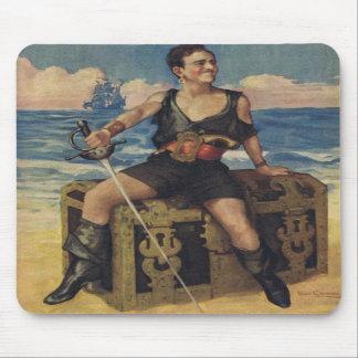 Pirata negro Mousepad de Douglas Fairbanks