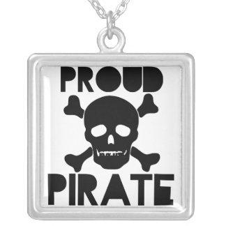Pirata orgulloso colgante cuadrado