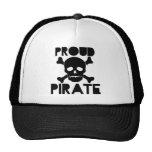 Pirata orgulloso gorras de camionero