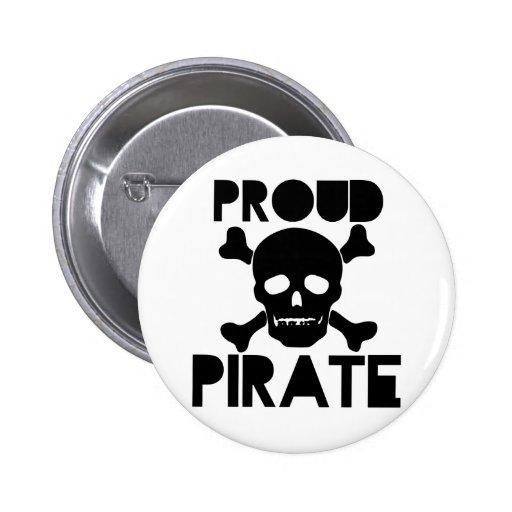 Pirata orgulloso pin redondo 5 cm