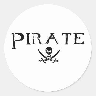 Pirata Etiqueta Redonda