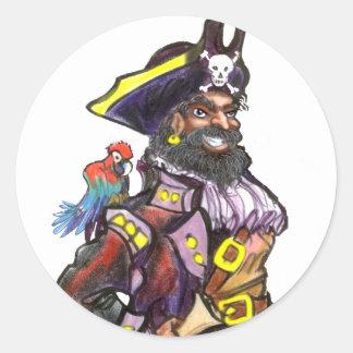 Pirata Pegatinas Redondas