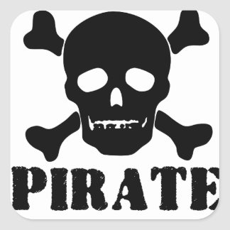 Pirata Pegatinas Cuadradases