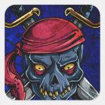 Pirata Pegatina Cuadrada