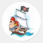 Pirata Pegatina Redonda