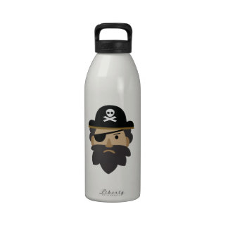 Pirata peligroso botella de agua reutilizable