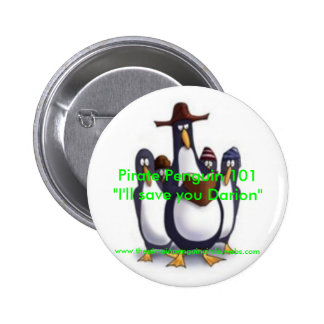 Pirata+pingüinos+reading2, pingüino del pirata 101 pin redondo 5 cm