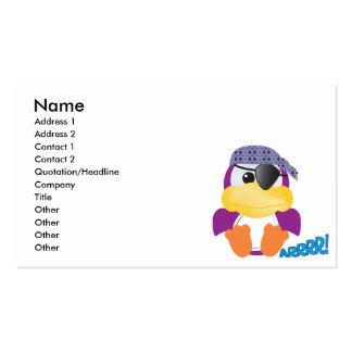Pirata púrpura lindo de Goofkins ducky Tarjetas De Visita