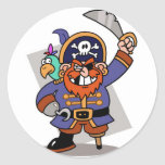 Pirata que amenaza pegatinas