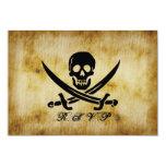 Pirata que casa la tarjeta de la respuesta de RSVP Invitación 8,9 X 12,7 Cm
