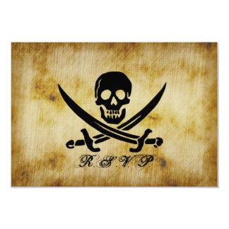 Pirata que casa la tarjeta de la respuesta de RSVP Invitacion Personalizada