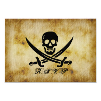 Pirata que casa la tarjeta de la respuesta de RSVP Comunicados Personalizados