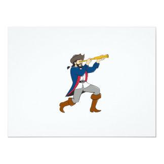 """Pirata que mira el dibujo animado aislado catalejo invitación 6.5"""" x 8.75"""""""