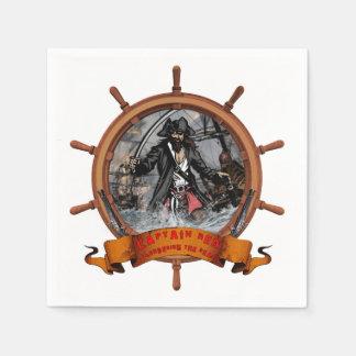 Pirata que pilla los mares servilleta desechable