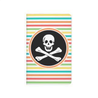 Pirata, rayas brillantes del arco iris cuaderno