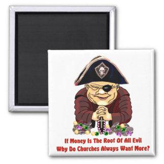 Pirata religioso imán cuadrado
