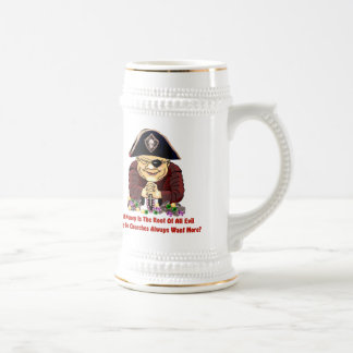 Pirata religioso jarra de cerveza