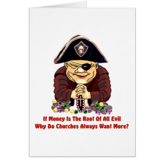 Pirata religioso tarjetón