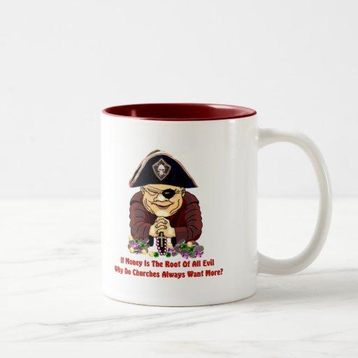 Pirata religioso taza de café